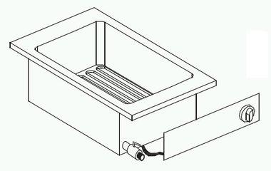 Drop-in elektrische friteuse - 1 x 6 liter
