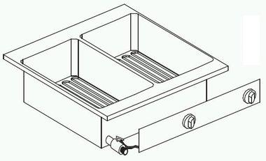 Drop-in elektrische friteuse - 2 x 6 liter