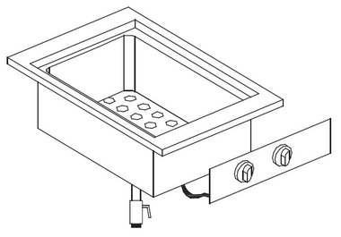 Drop-in bain marie element