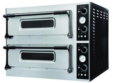 Elektrische pizza oven - 2 x 6 pizza's Ø32 cm