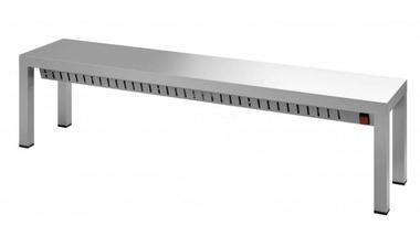 Verwarmde etagere 1 niveau - 1000 mm