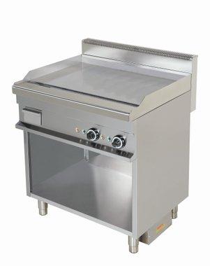 Gas bakplaat verchroomd glad - 700 pro kooklijn
