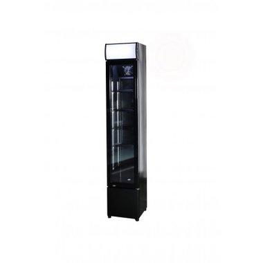 Glasdeur koelkast zwart - smal 360 mm breed