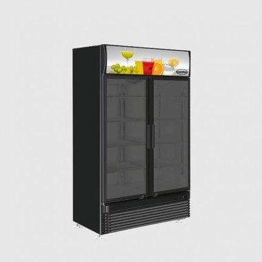 Glasdeur koelkast zwart - 780 liter
