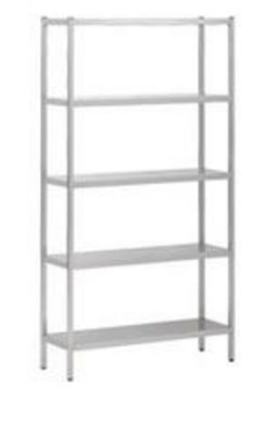 Stelling - 5 etages - 2500 x 400 x 1800 mm