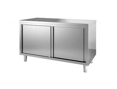 Werktafel 1200 x 600 mm met schuifdeuren