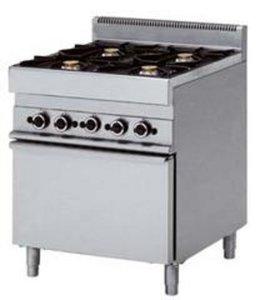 4 pits gasfornuis met elektrische oven