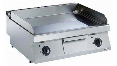 Elektrische bakplaat verchroomd glad - 700 pro kooklijn