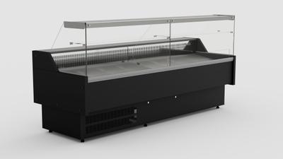 Multinox koeltoonbank zwart - 2940 mm x 1060 mm